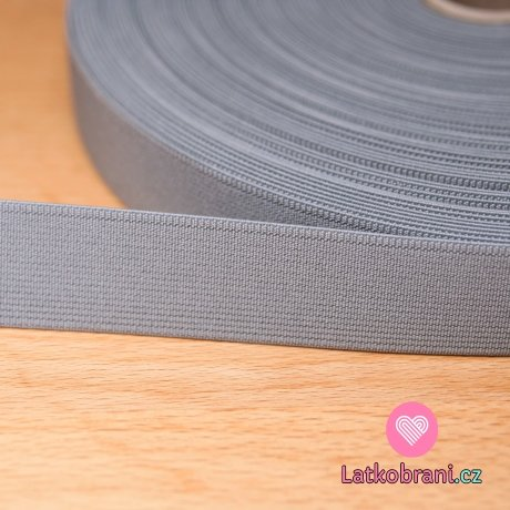Pruženka barevná šedá 25mm