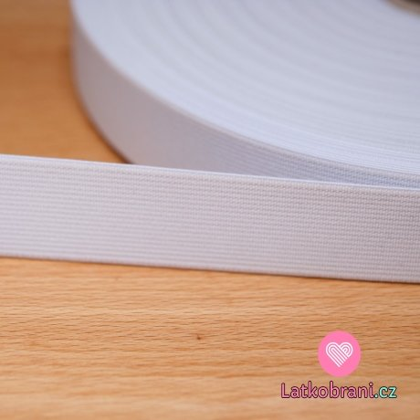 Pruženka plochá bílá 25mm