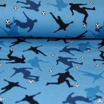 Teplákovina fotbalisti na světle modré