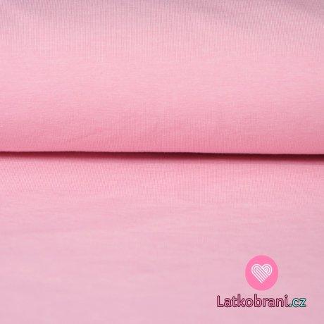 Jednobarevný úplet jemné melé růžový dětský 220g