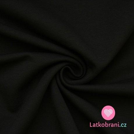 Jednobarevná teplákovina černá 290gr
