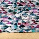 Teplákovina petrolejovo-fialové trojúhelníčky