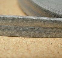 Šikmý proužek / lemovací pruženka šedá střední 19mm