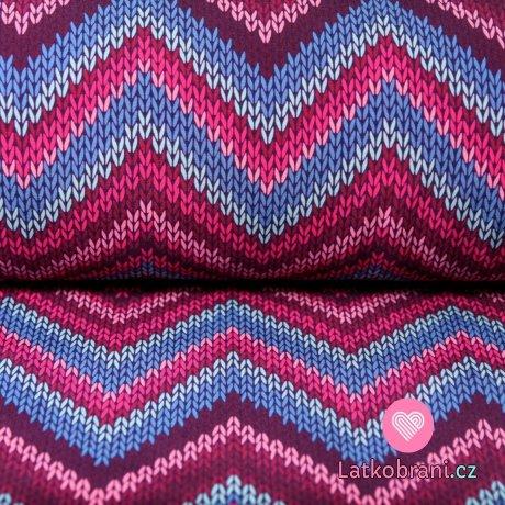 Softshell imitace svetru cik cak s fleecem