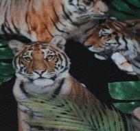 Softshell zimní s digitálním potiskem tygři