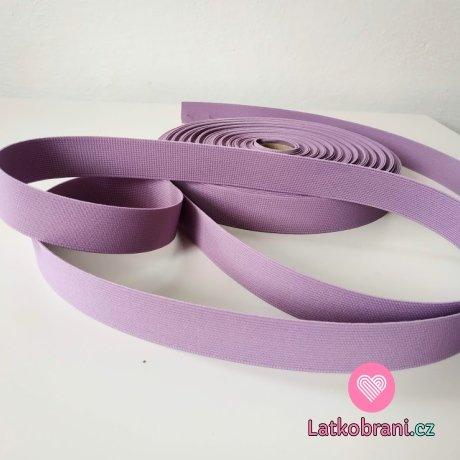Pruženka barevná šeříkově fialová 25 mm