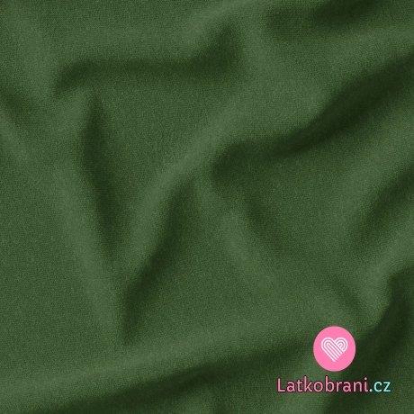 Teplákovina jednobarevná cedrově zelená