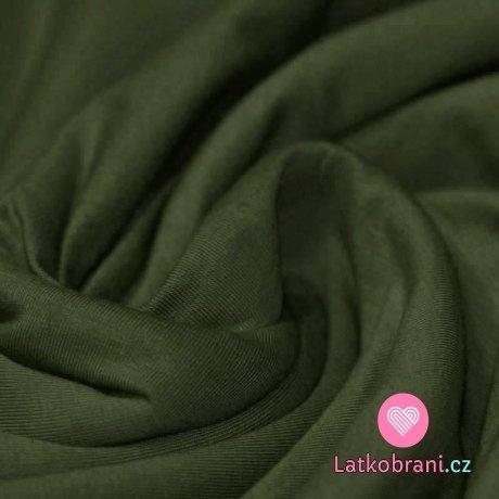 Jednobarevný úplet khaki tmavý