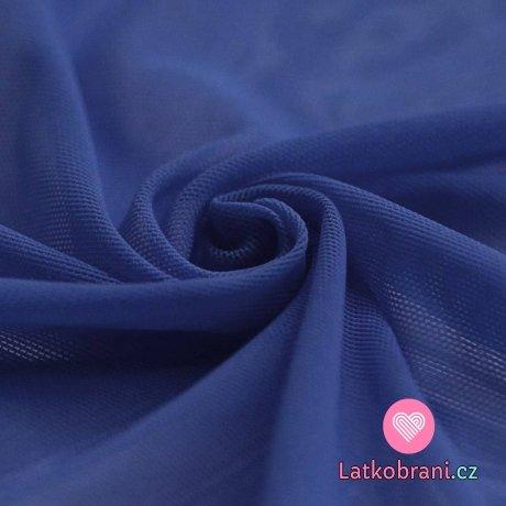 Síťovina strečová kobaltově modrá