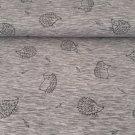 Teplákovina počesaná ježečci na šedém melé