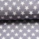 Softshell hvězdy šedé, bílé na šedé (2,5cm)-ZBYTEK