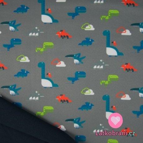 Softshell dinosauři na šedé