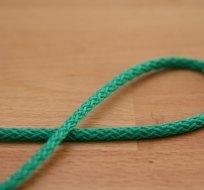 Šňůra kulatá oděvní PES 4 mm zeleno-smaragdová tmavá