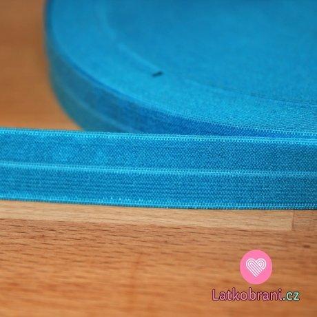 Šikmý proužek / lemovací pruženka tyrkysově modrá tmavější