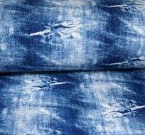 Teplákovina jeansovina potrhaný efekt