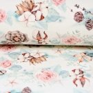 Teplákovina Bavlna s růží