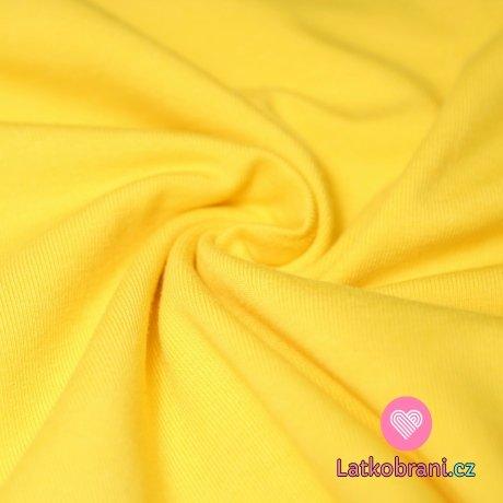Jednobarevný úplet žlutý sytý 220g
