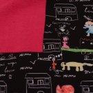 Softshell zimní s potiskem kresba a psaní na tabuli