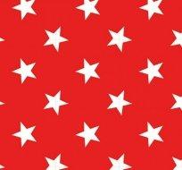 Teplákovina potisk bílé hvězdy na červené