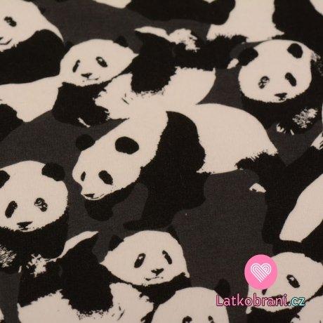 Warmkeeper medvídek panda na šedé