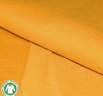 Teplákovina pošesaná hořčicová sytá BIO bavlna
