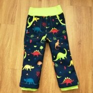 Výrobek zákazníka Latkobrani.cz - Softshellové kalhoty s dinosaury