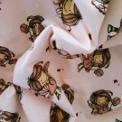 Teplákovina potisk holčička motýlek na růžové
