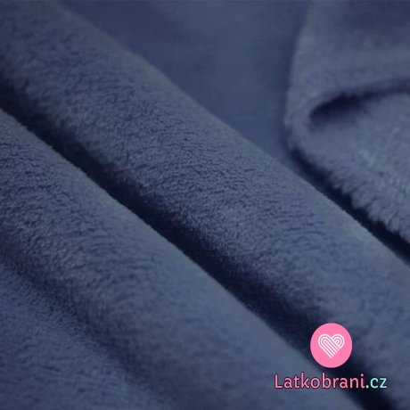 Coral fleece tmavě jeansově modrý