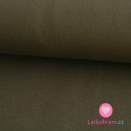 Náplet hladký khaki tmavé 240g -ZBYTEK