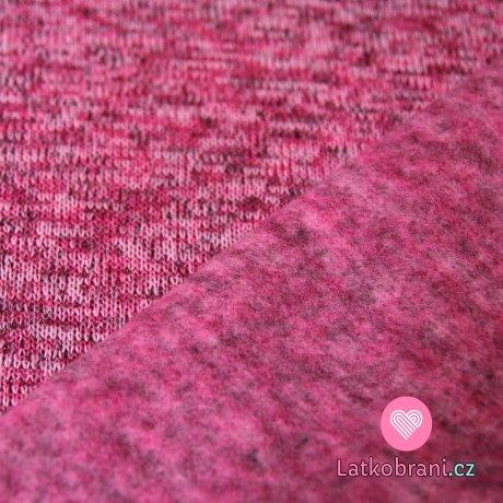 Svetrovina melé růžovo-malinová