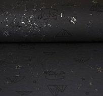 Úplet lední medvěd na šedé / stříbrné hvězdy
