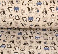 Teplákovina tučňák v modrém svetru