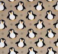 Úplet tučňáci na béžové