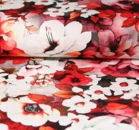 Úplet ditigitsk květinová zahrada růžová bordo