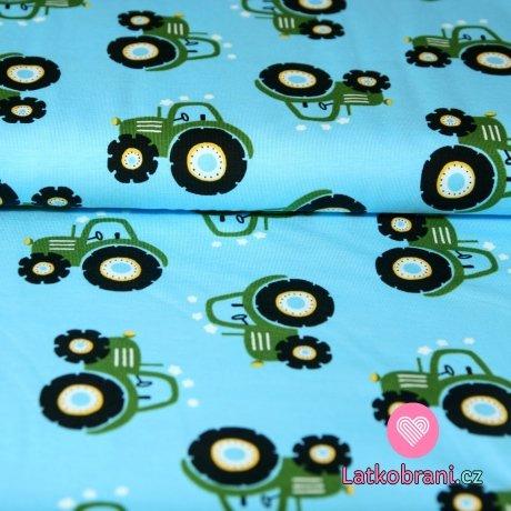 Úplet traktory zelené na světle modré