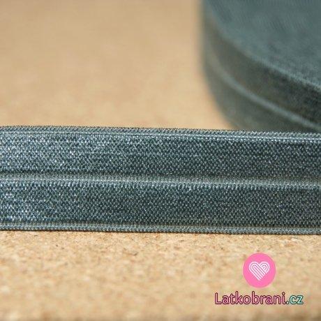 Šikmý proužek / lemovací pruženka šedá střední
