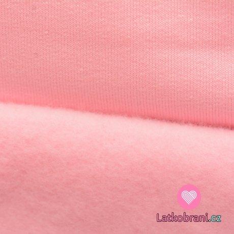 Teplákovina počesaná světle růžová baby
