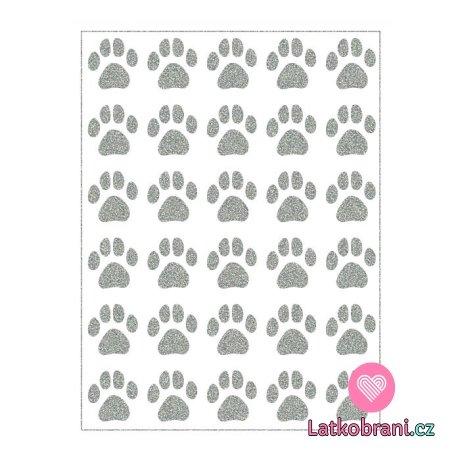 Reflexní nažehlovačka psí mini stopy 30ks