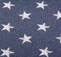 Teplákovina potisk oprané bílé hvězdy na džínsově modré