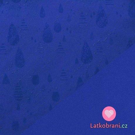 Softshell zimní strečový královsky modrá magické kapky deště