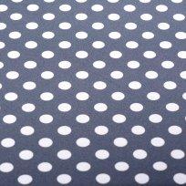 Softshell zimní potisk puntík na džínově modré