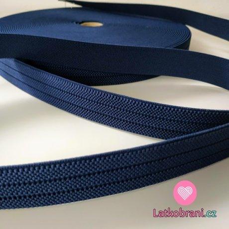 Pruženka barevná tm. modrá navy 25 mm
