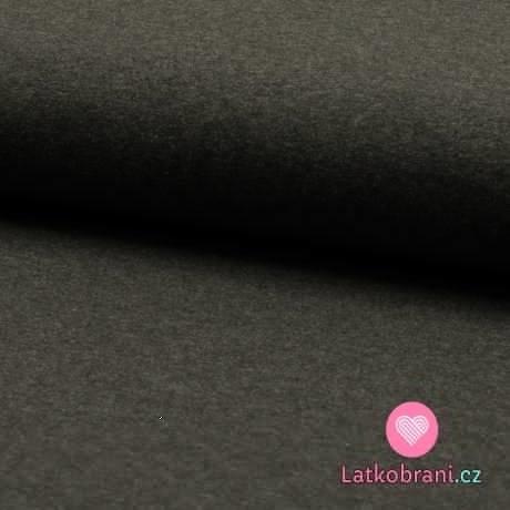 Jednobarevný úplet tmavě šedé melé 220 g