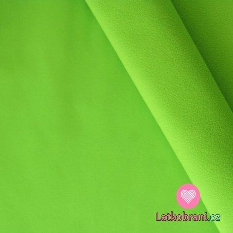 Softshell zelená pistáciová s fleecem