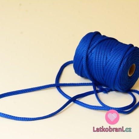 Šňůra kulatá oděvní PES 7 mm královsky modrá