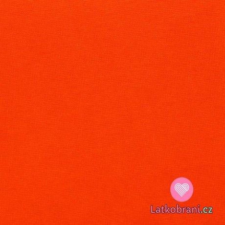 Náplet hladký oranžový