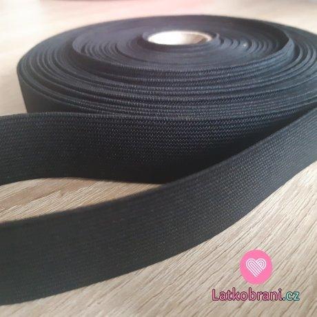 Pruženka plochá černá 25 mm