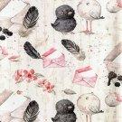 Úplet potisk zamilovaní ptáčci s dopisní obálkou