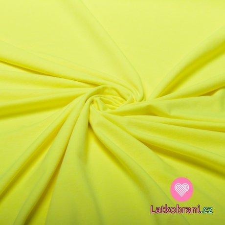 Úplet jednobarevný neon žlutý melé