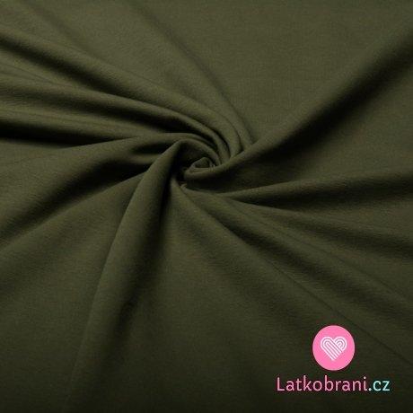 Jednobarevná teplákovina khaki 240 g